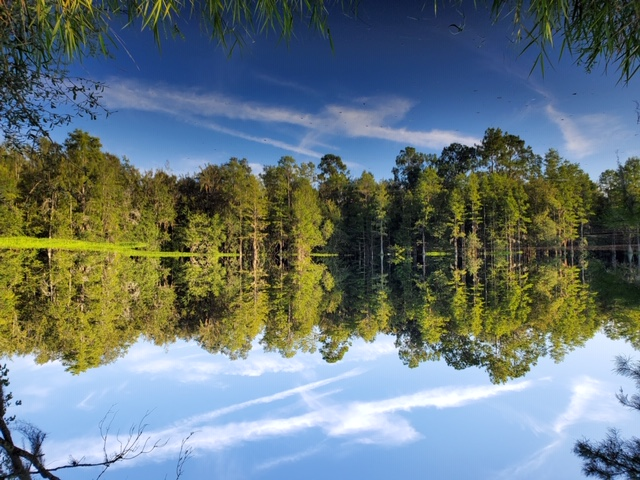 photo of fishing lake in north florida at ragans family campground in madison fl